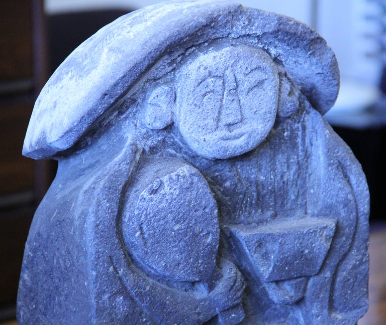 Antique japanese carved stone garden figure at stdibs