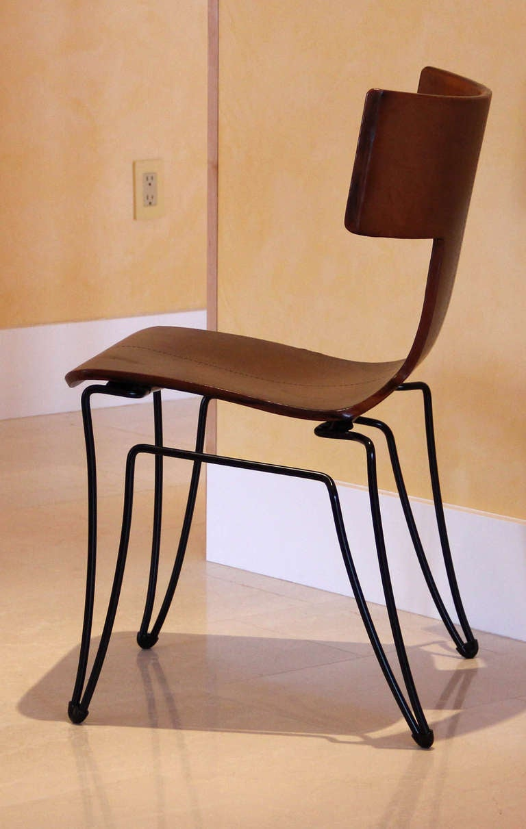 Twelve Donghia Anziano Klismos Style Dining Chairs With