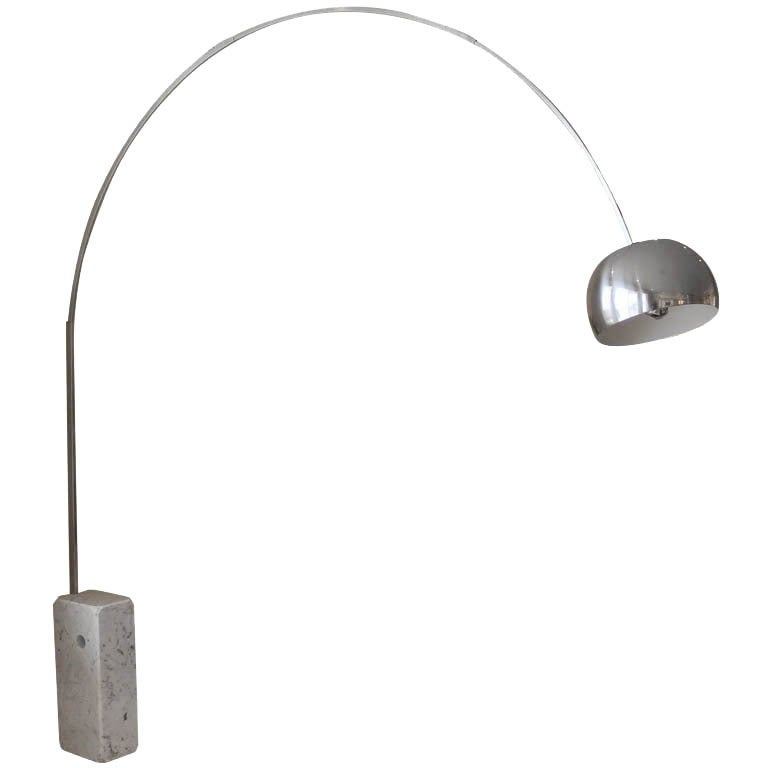 Classic flos arco floor lamp by achille and pier giacomo for Flos castiglioni arco