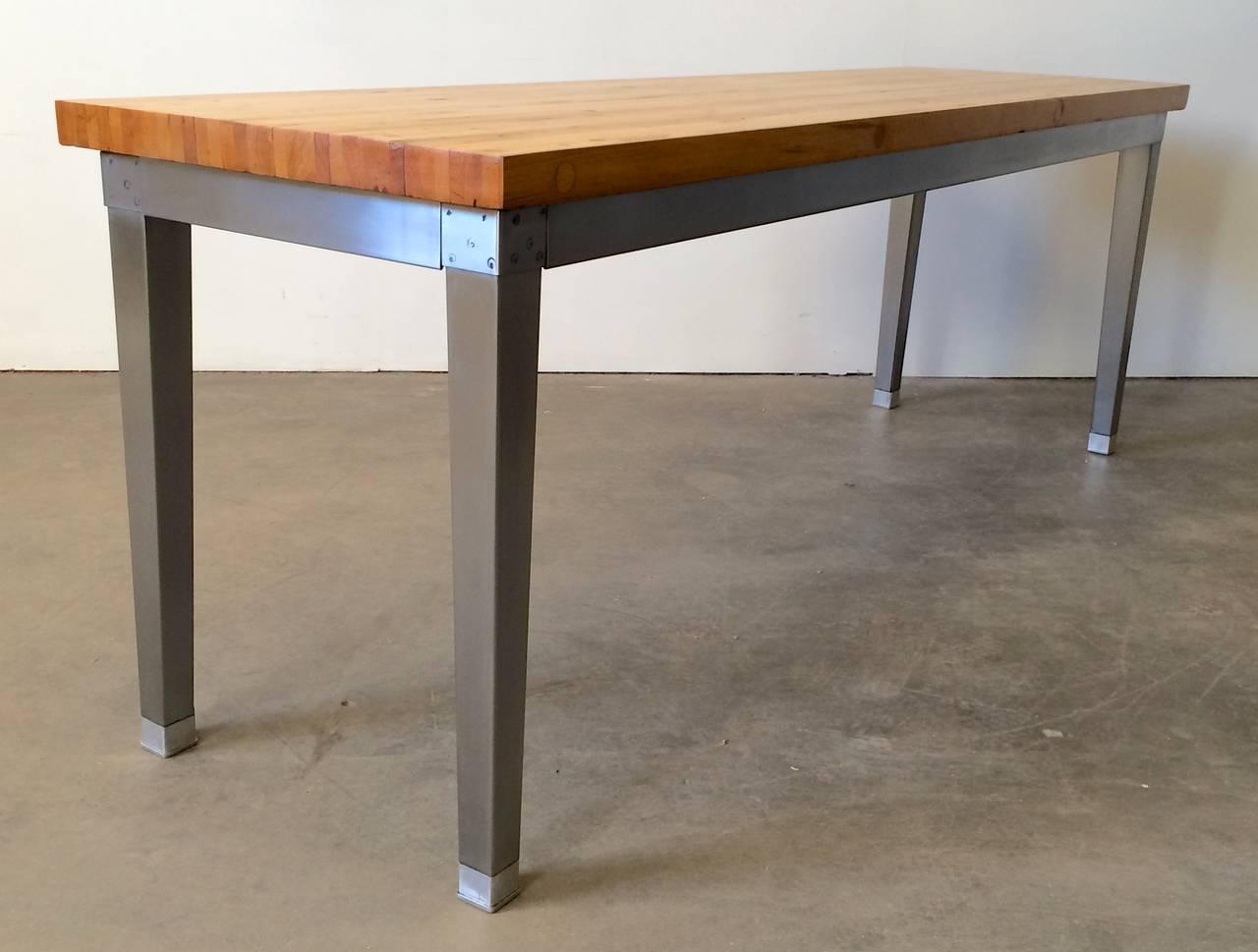 vintage industrial butcher block table at 1stdibs