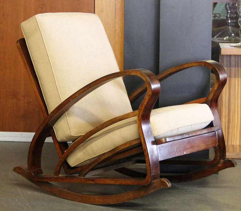 Pair of French Art Deco Style Bentwood Rocking Chairs image 3