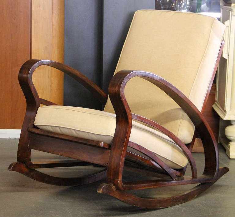 Pair of French Art Deco Style Bentwood Rocking Chairs image 5