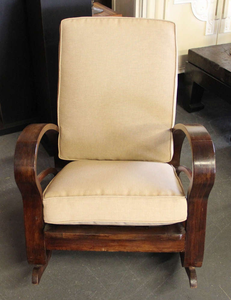 Pair of French Art Deco Style Bentwood Rocking Chairs image 6