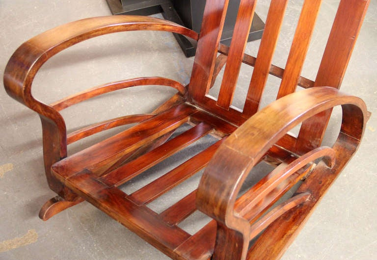 Pair of French Art Deco Style Bentwood Rocking Chairs image 7