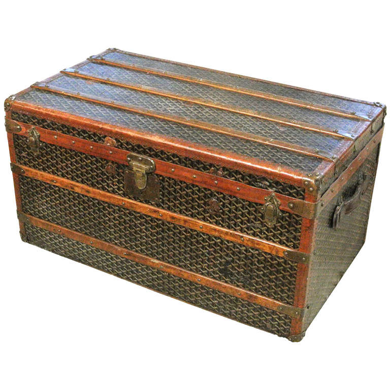 Early 20th Century Maison Goyard Coffee Table Size Steamer Trunk