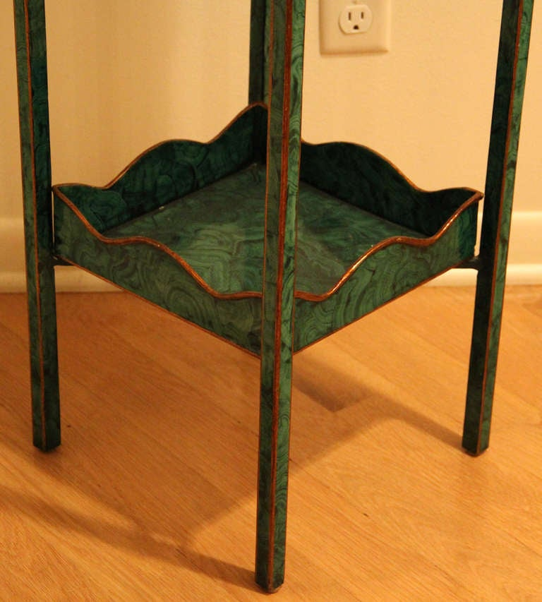 40 Best French Country Furniture Images On Pinterest: Maitland Smith Faux Malachite Regency Style Two Tier Plant