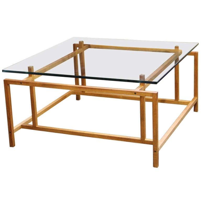 Danish Modern Teak Coffee Table By Henning Norgaard For Komfort At 1stdibs