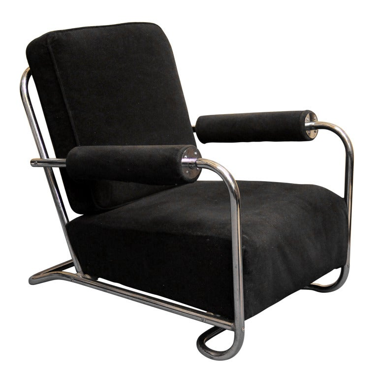 Gilbert Rohde Art Deco Machine Age Lounge Chair At 1stdibs