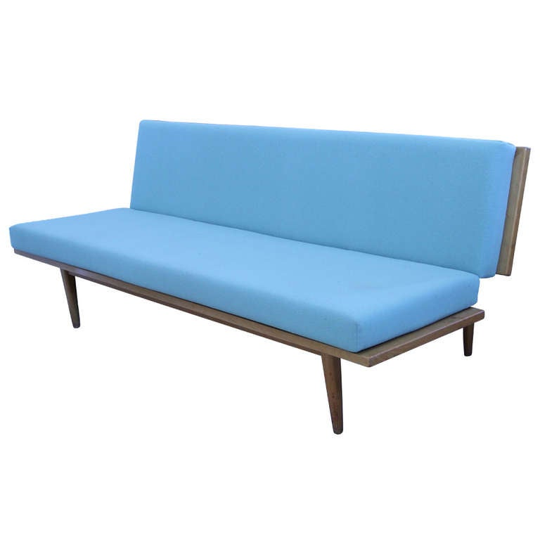 Danish Modern Mid Century Birch Convertible Sofa Day Bed