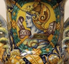 Cantagalli Renaissance Style Italian Majolica Drug Jar image 2