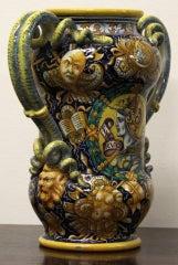Cantagalli Renaissance Style Italian Majolica Drug Jar image 4