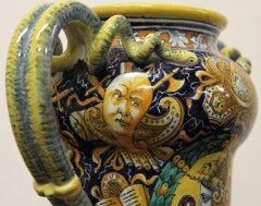Cantagalli Renaissance Style Italian Majolica Drug Jar image 6