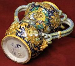 Cantagalli Renaissance Style Italian Majolica Drug Jar image 9