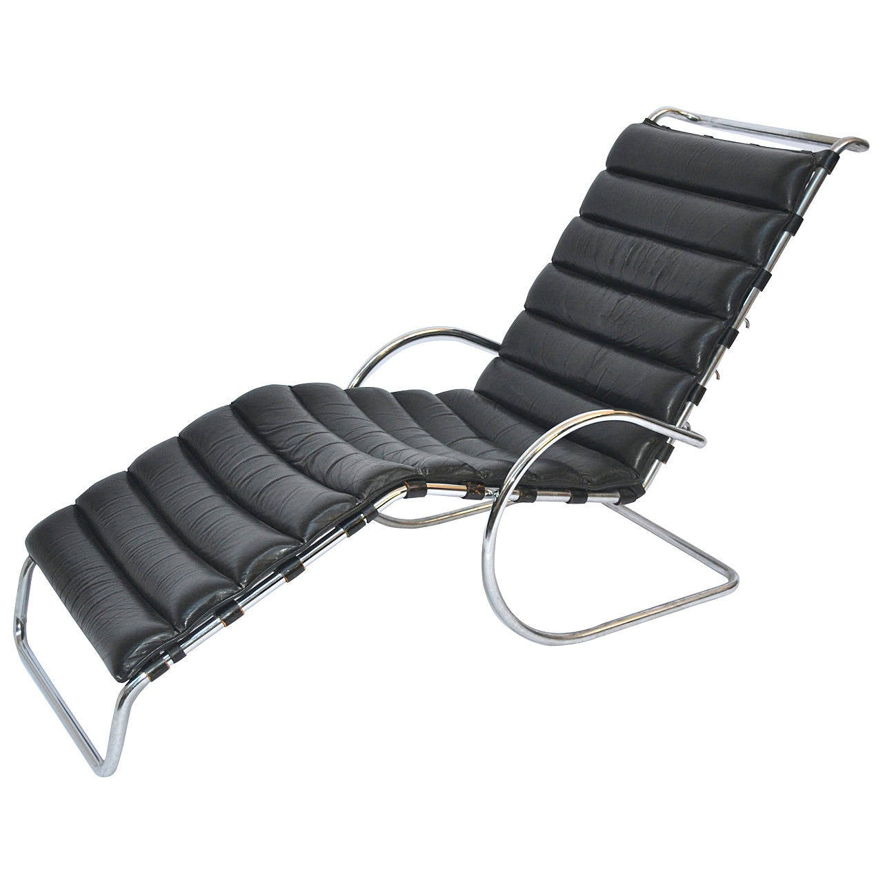 Chaise longue of mies van der rohe at 1stdibs for Barcelona chaise longue