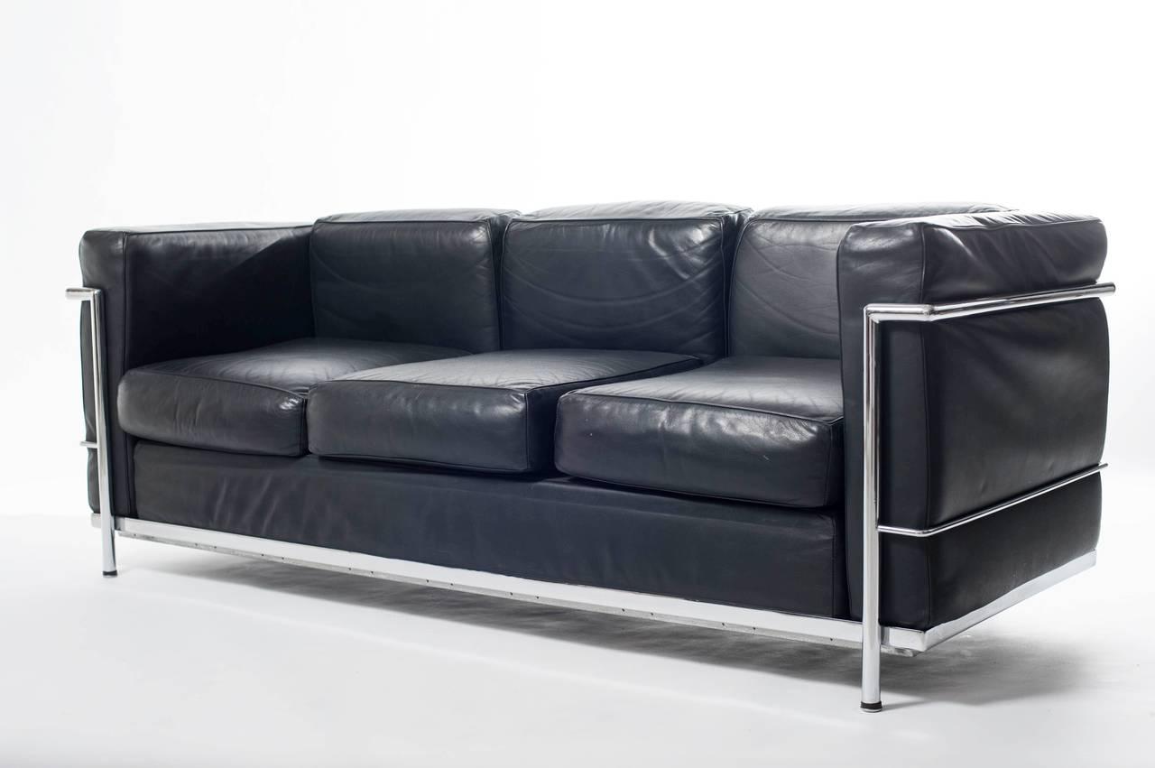 sofa lc3 le corbusier at 1stdibs. Black Bedroom Furniture Sets. Home Design Ideas