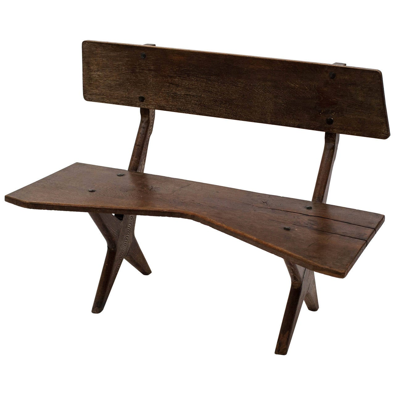 Bench In Natural Wood 1948 At 1stdibs
