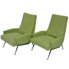 Pair of armchairs - 50's