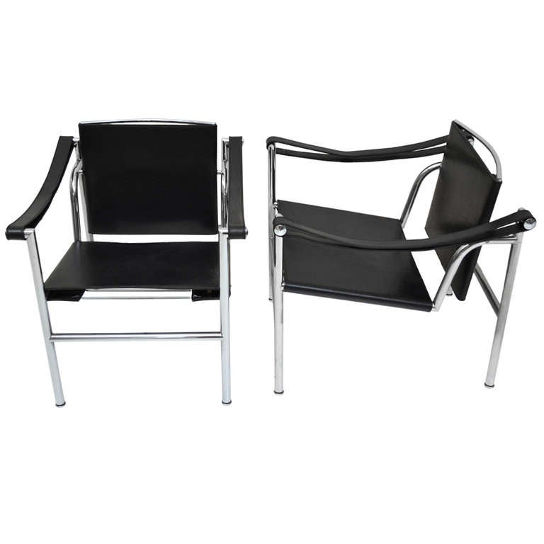 Pair of armchairs lc1 le corbusier cassina at 1stdibs - Chaise lc1 le corbusier ...