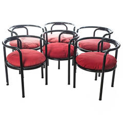 Set of Six Chairs Locus Solus by Gae Aulenti for Poltronova