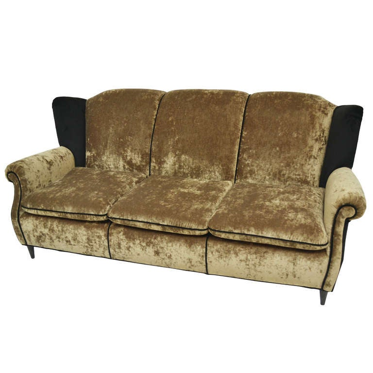 Italian sofa 50 39 s in fabric at 1stdibs for K furniture fabric world
