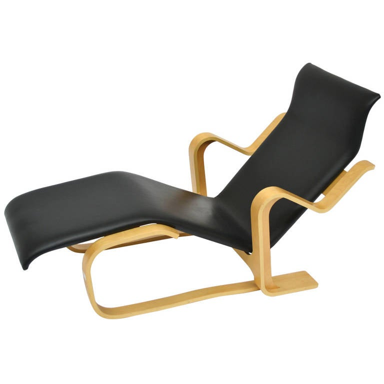 chaise longue relax by marcel breuer for gavina at 1stdibs. Black Bedroom Furniture Sets. Home Design Ideas