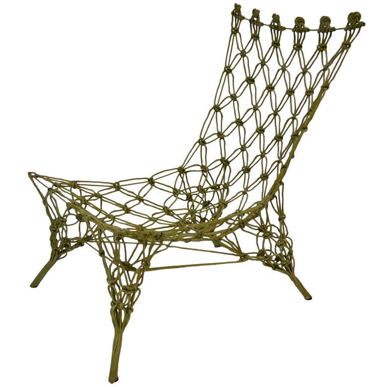 knotted chair marcel wanders cappellini at 1stdibs. Black Bedroom Furniture Sets. Home Design Ideas