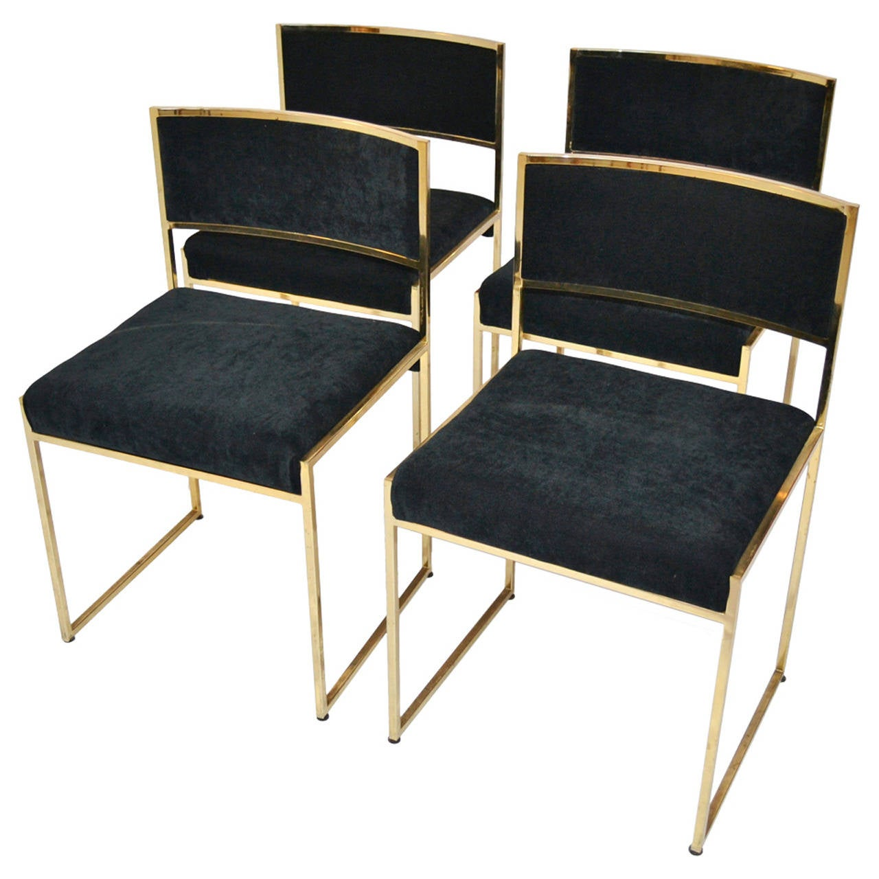 set of four chairs 1970s at 1stdibs. Black Bedroom Furniture Sets. Home Design Ideas