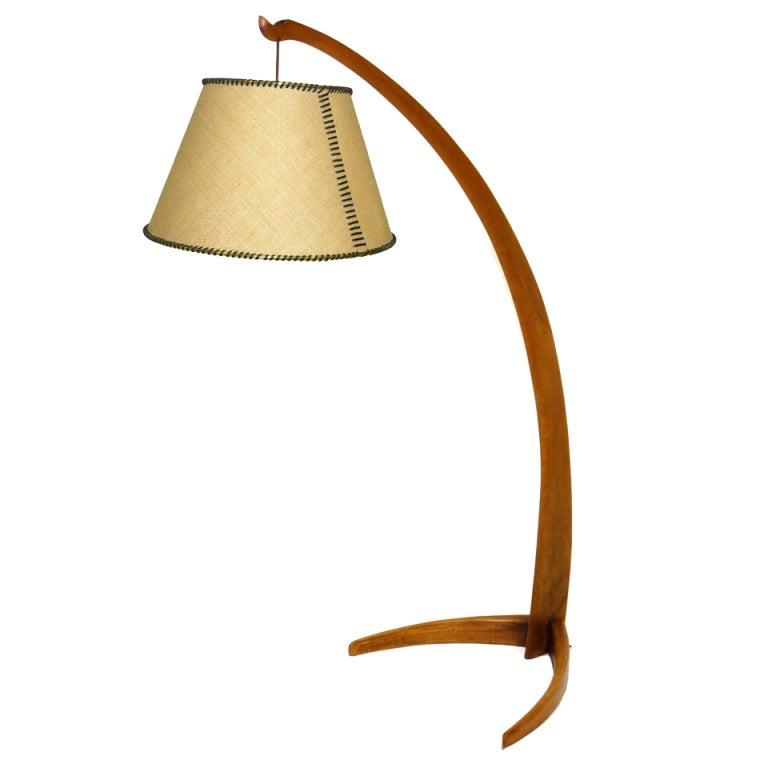 50 39 s wood floor lamp at 1stdibs. Black Bedroom Furniture Sets. Home Design Ideas