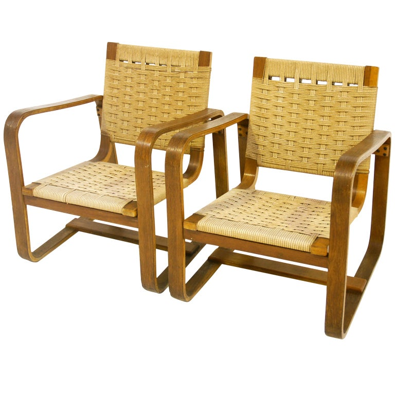 Pair Of 40 S Armchairs Giuseppe Pagano At 1stdibs