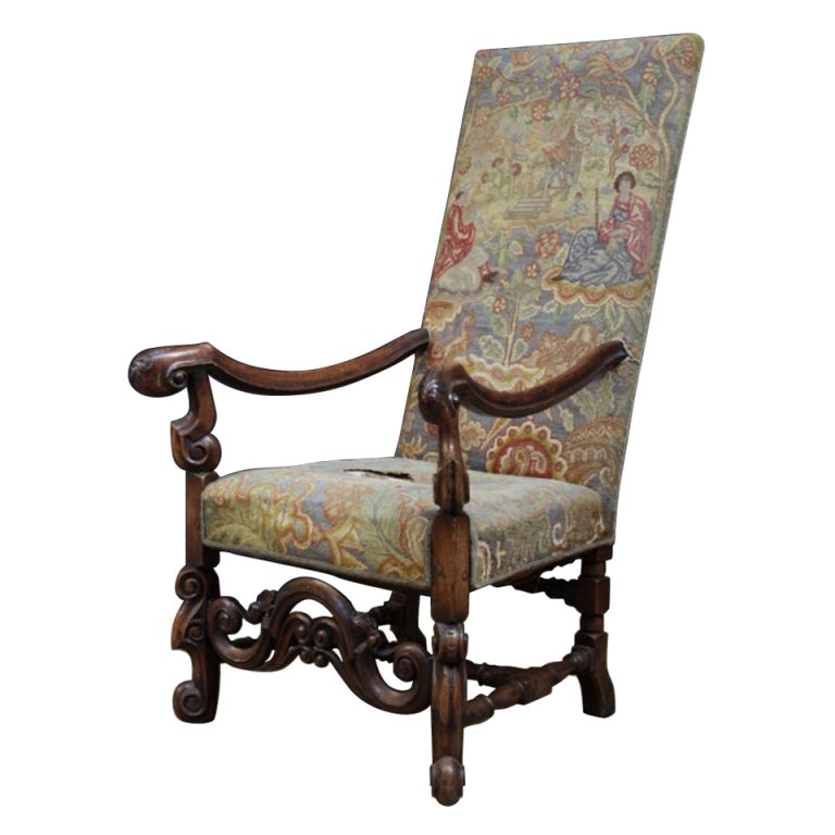 William And Mary Open Armchair At 1stdibs