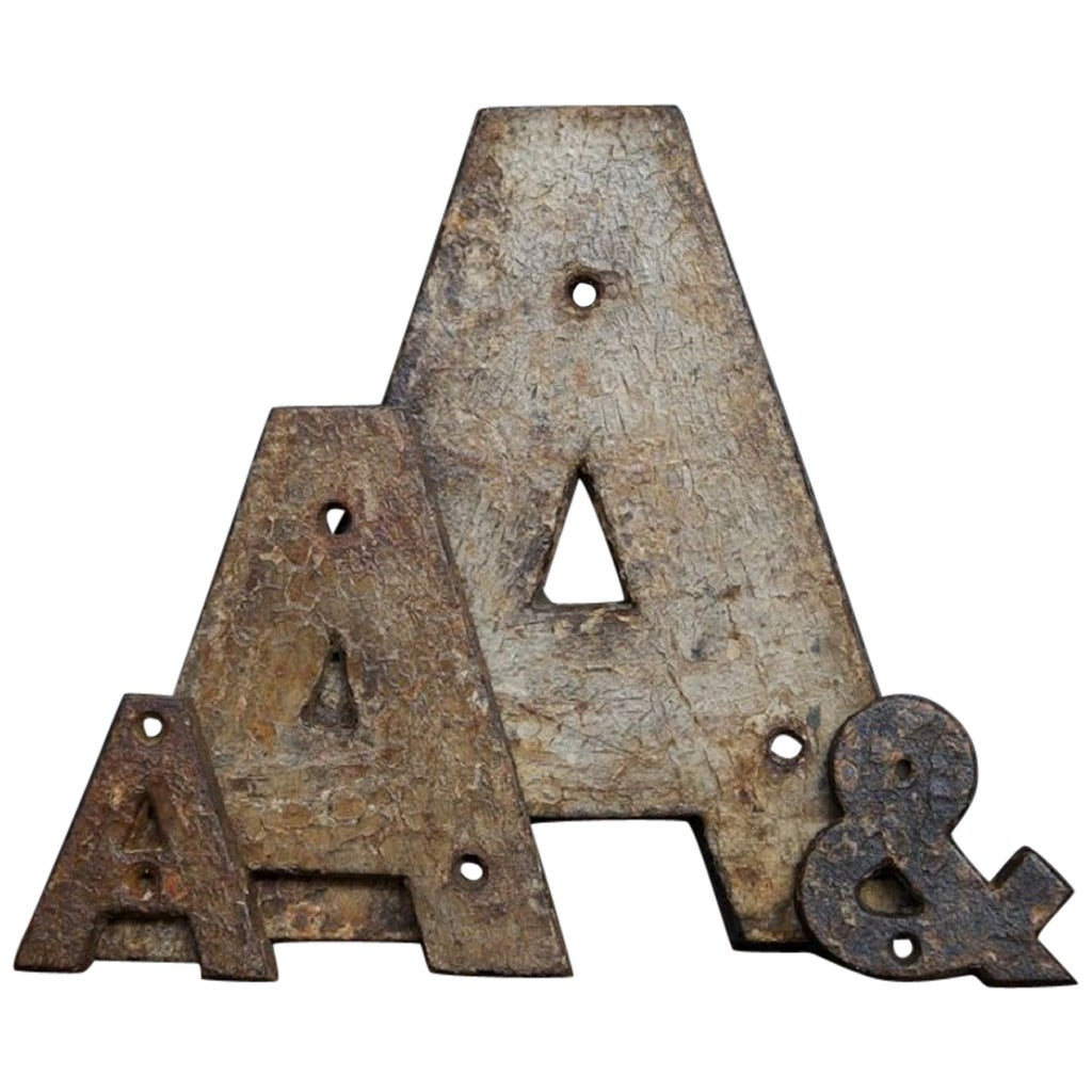 cast iron letters cast iron letters at 1stdibs 20792 | 1598132 1