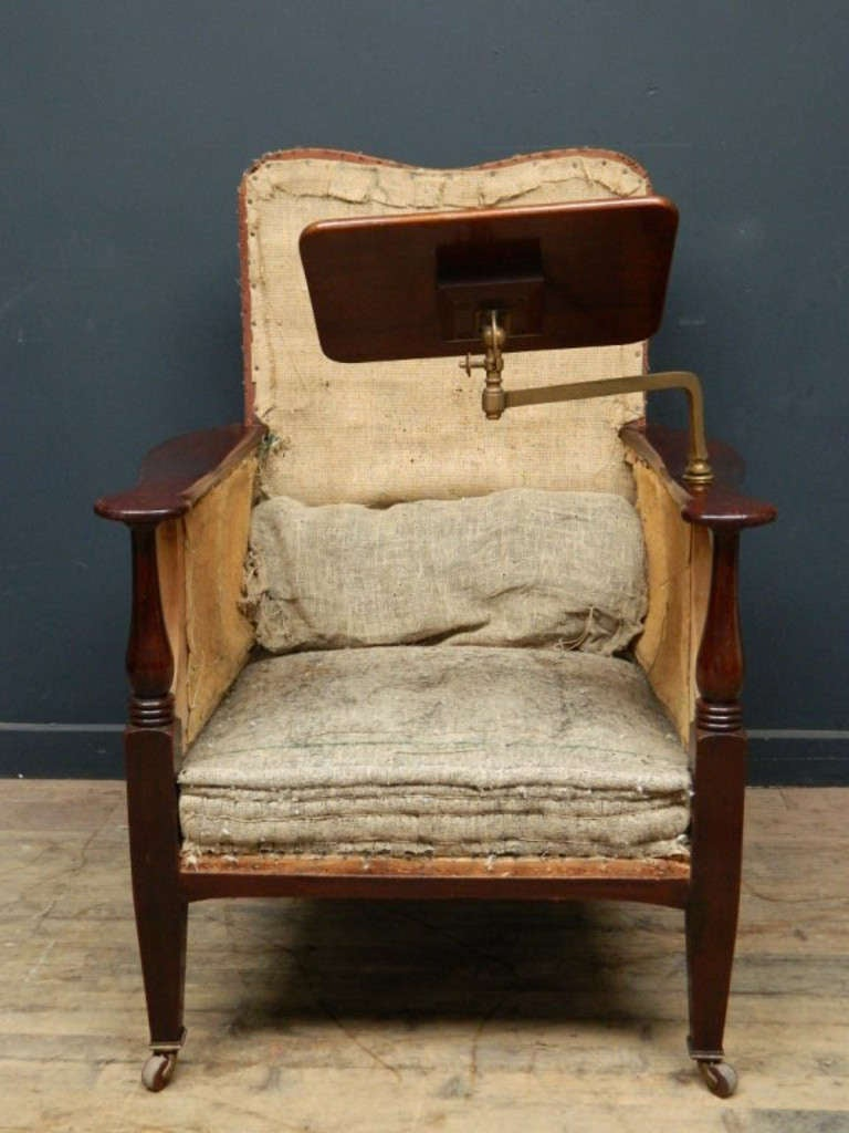 Edwardian Library Or Reading Chair At 1stdibs