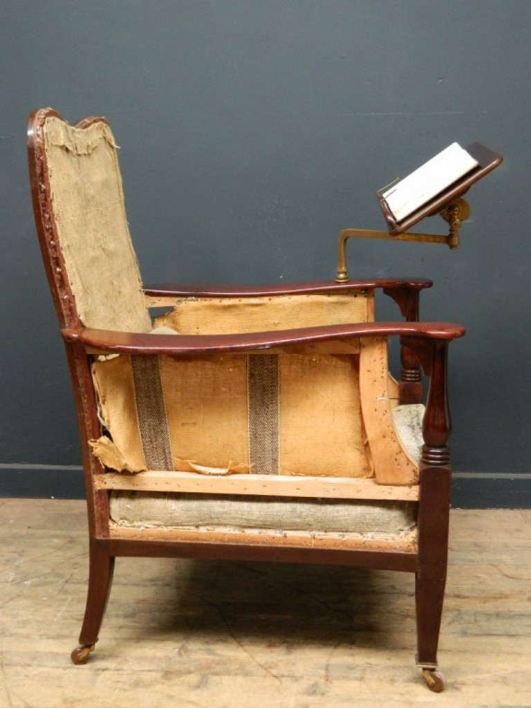 edwardian library or reading chair image 4