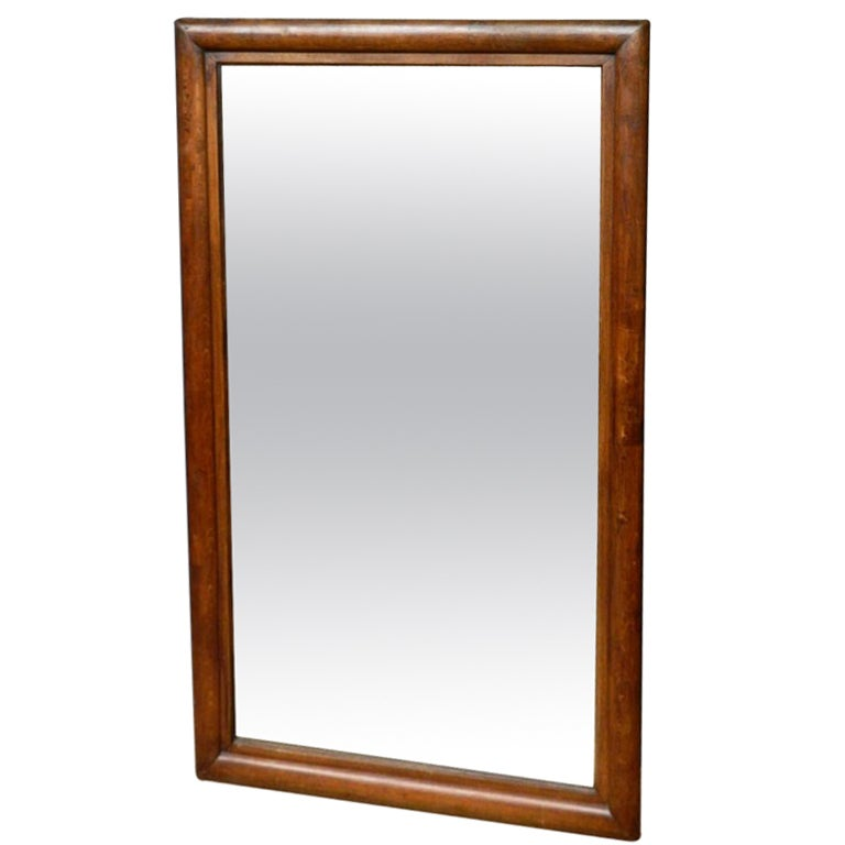 Large oak framed mirror at 1stdibs for Big framed mirror