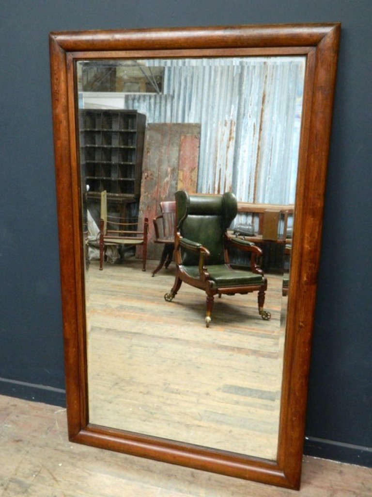 large oak framed mirror 2