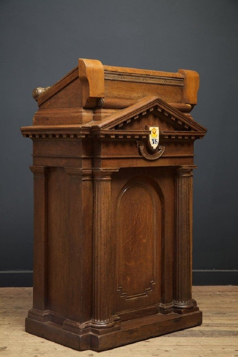 Neoclassical Style Oak Lectern At 1stdibs