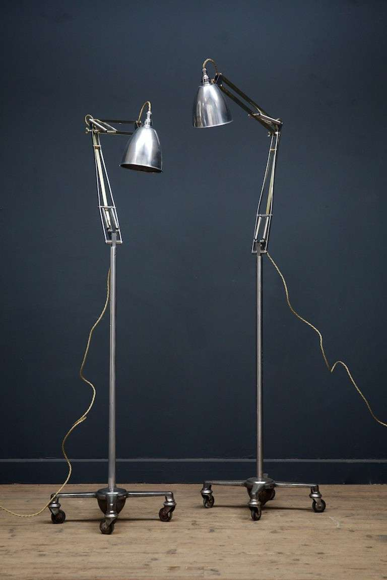 Two brass floor standing anglepoise lamps at 1stdibs - Large anglepoise lamp ...