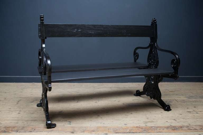 Double Sided Park Bench At 1stdibs