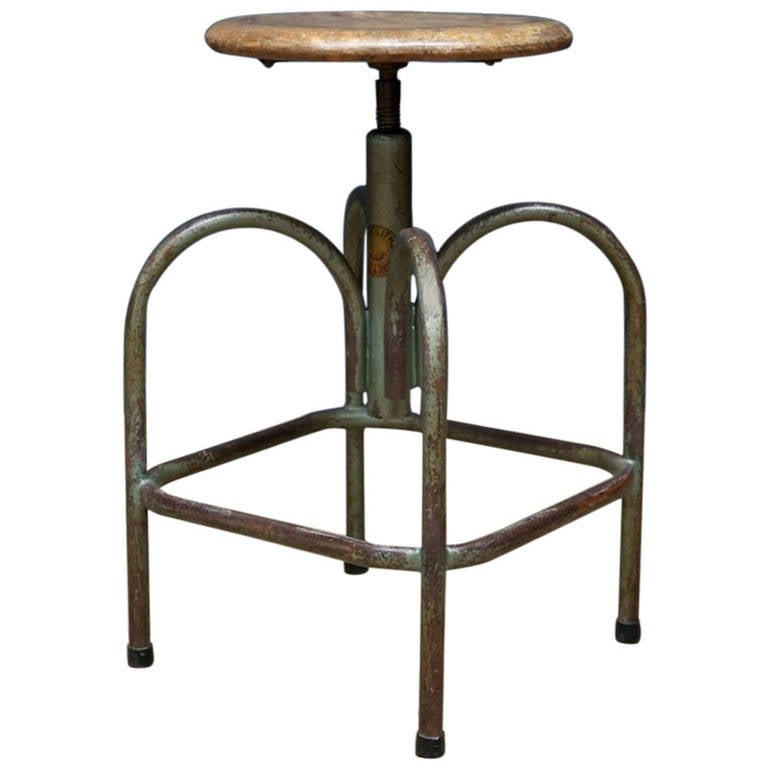 Heliolithe Stool At 1stdibs