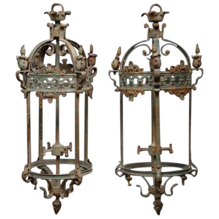 Pair Of Ornate Lanterns At 1stdibs