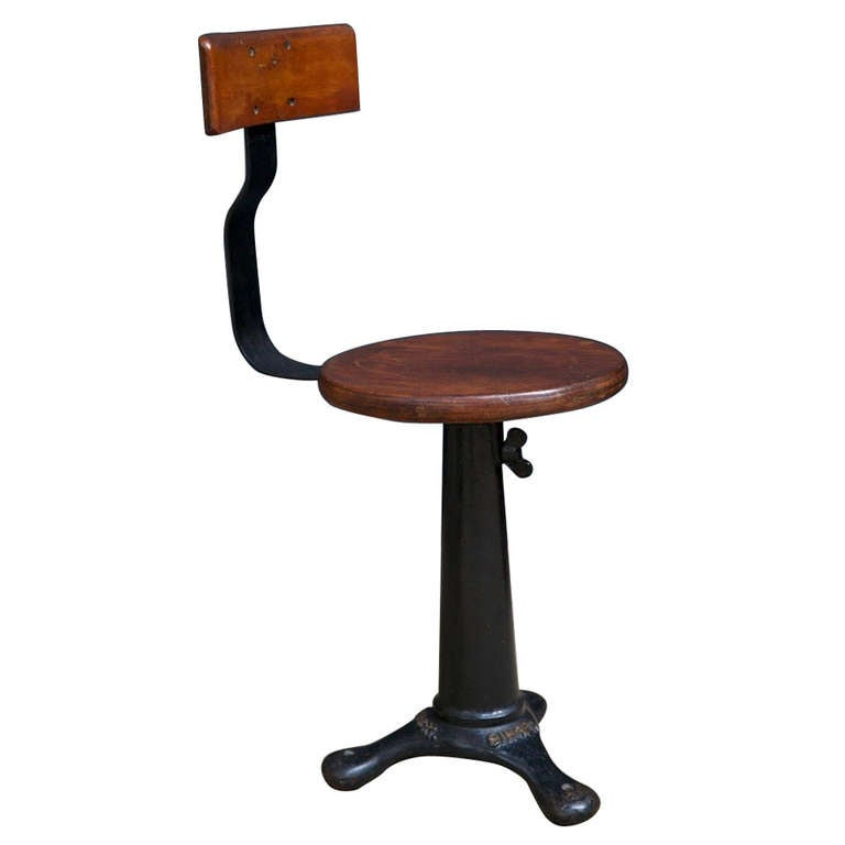 Singer work chair at 1stdibs for H furniture ww chair
