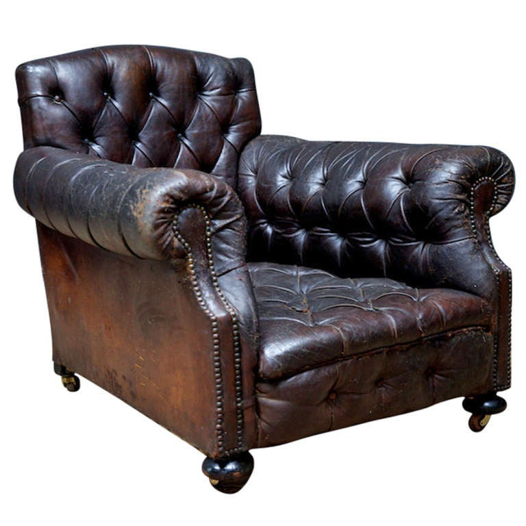 Deep Buttoned Armchair At 1stdibs