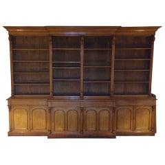 Massive 19th Century Victorian Oak Bookcase