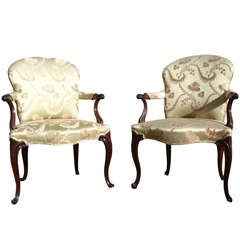 Pair of 18th Century Antique Library Chairs