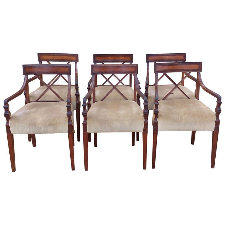 Set of 7 Antique Dining Chairs All With Arms at 1stdibs : 1018760l from www.1stdibs.com size 768 x 768 jpeg 42kB