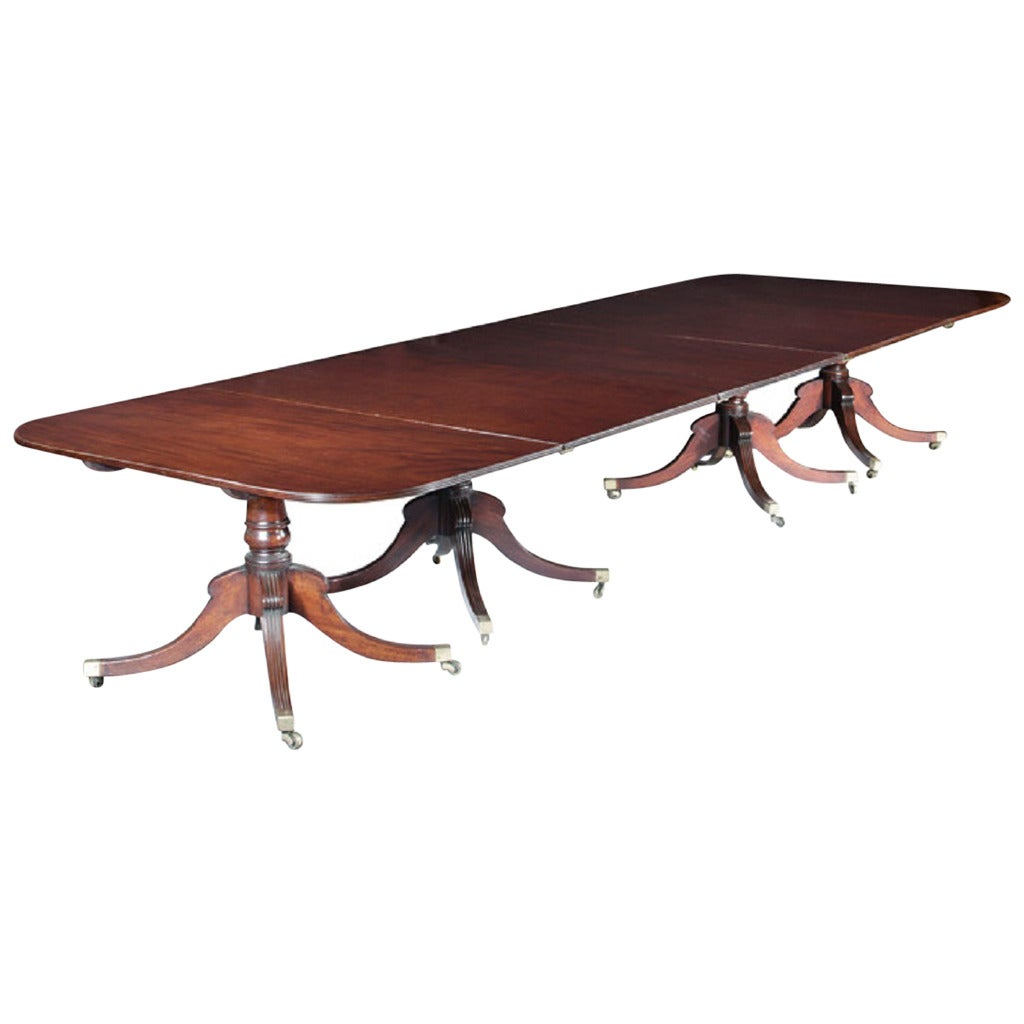 Important Four Pedestal Dining Table At 1stdibs