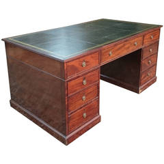 Antique Mahogany Partners' Desk
