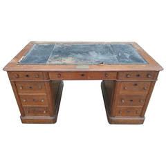 Large 19th Century Pedestal Desk