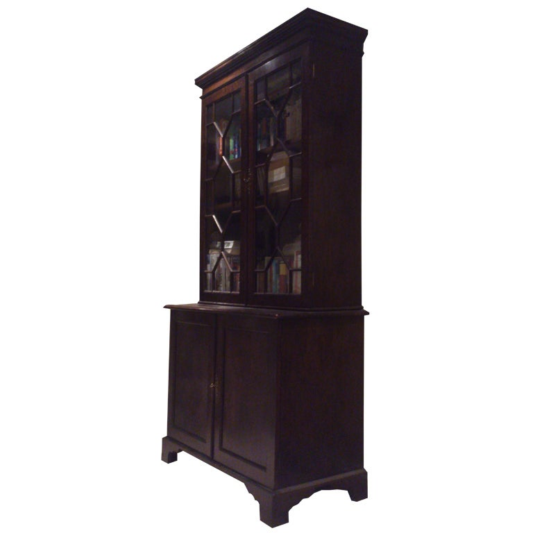 Small Georgian Bookcase For Sale