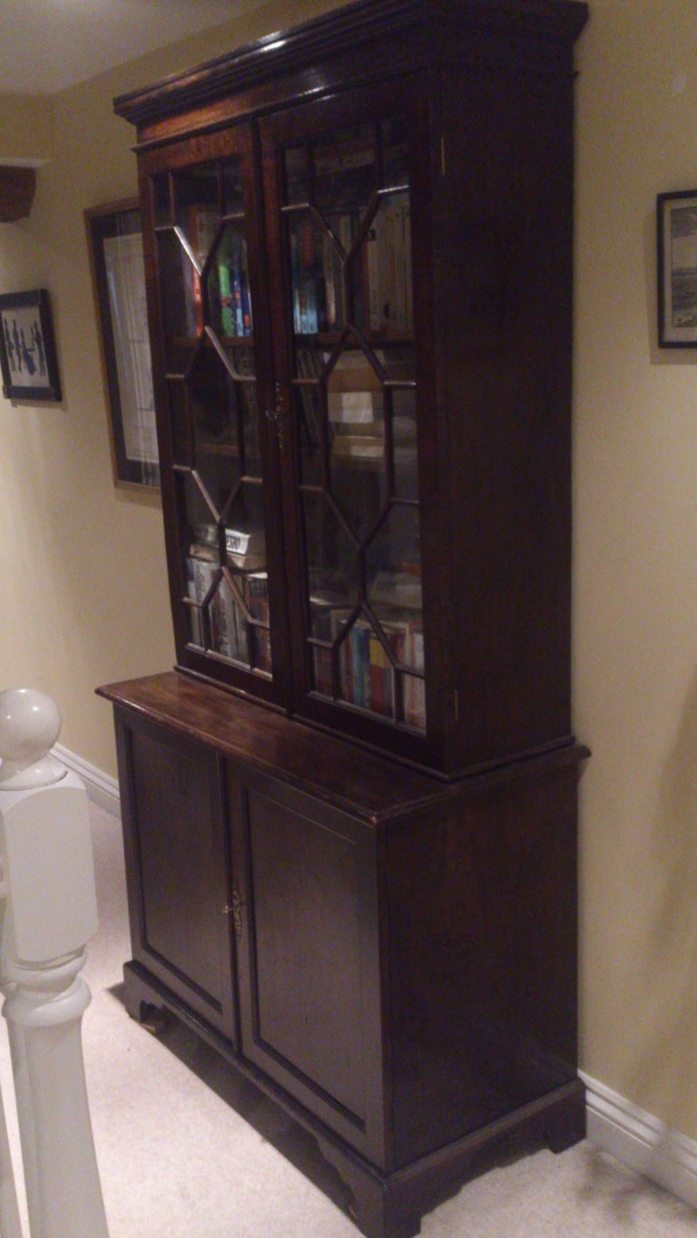19th Century Small Georgian Bookcase For Sale